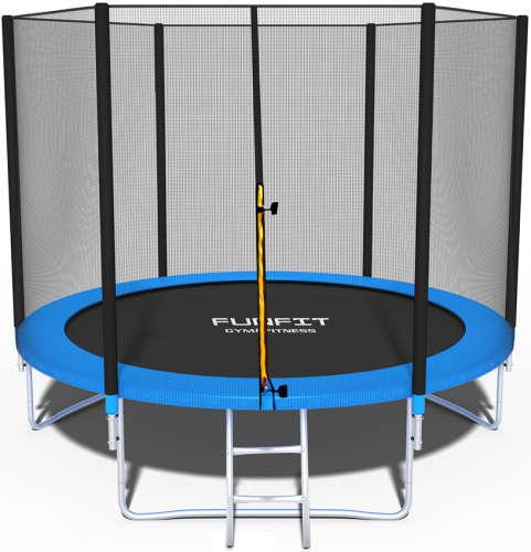 Funfit Gym&Fitness külső hálós Trambulin létrával 244cm #kék