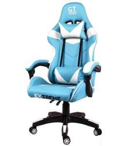 Extreme GT Gamer szék nyak-és derékpárnával #kék-fehér 31499462 Állítható székmagasság