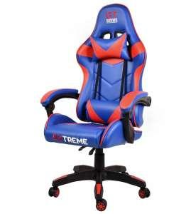Extreme GT Gamer szék nyak-és derékpárnával #kék-piros 31499470 Állítható székmagasság