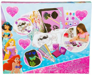 Disney hercegnők kreatív rajzoló szett – 28 db 31499600 Foglalkoztató füzet, kifestő-színező