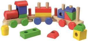 Beluga színes fa Vonat szett 46cm 31500107 Vonat, vasúti elem, autópálya