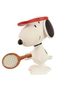 Teniszező kutya figura 5cm - Snoopy 31501239 Figura
