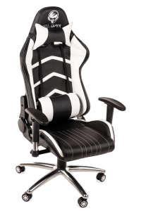 Hell Gamer professzionális fémlábas Gamer szék 3D kartámasszal #fekete-fehér 31501356 Állítható székmagasság