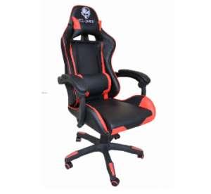 Hell Gamer Prémium Gamer szék nyak-és derékpárnával #fekete-piros