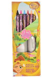 Disney Rapunzel kifestő tekercs zsírkrétákkal 31501671 Foglalkoztató füzet, kifestő-színező