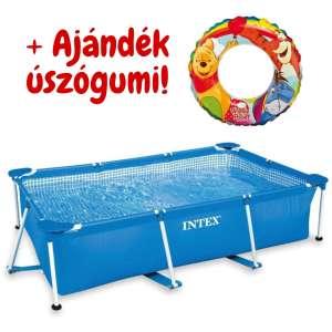 Intex Négyszögletes fémvázas kerti Medence 300x200x75cm (28272NP) + ajándék úszógumi