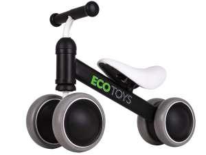 Ecotoys Mini 2in1 négykerekű Futóbicikli #fekete