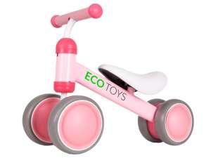 Ecotoys Mini 2in1 négykerekű Futóbicikli #rózsaszín