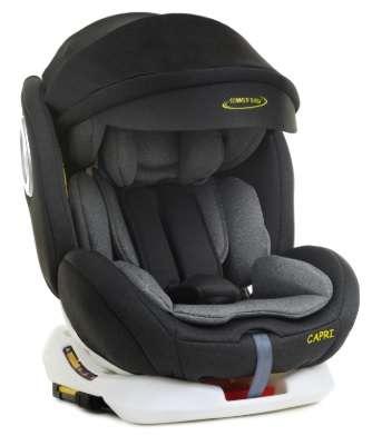 Summer Baby Capri 360° ISOFIX biztonsági Gyerekülés napellenzővel 0-36kg #fekete-szürke