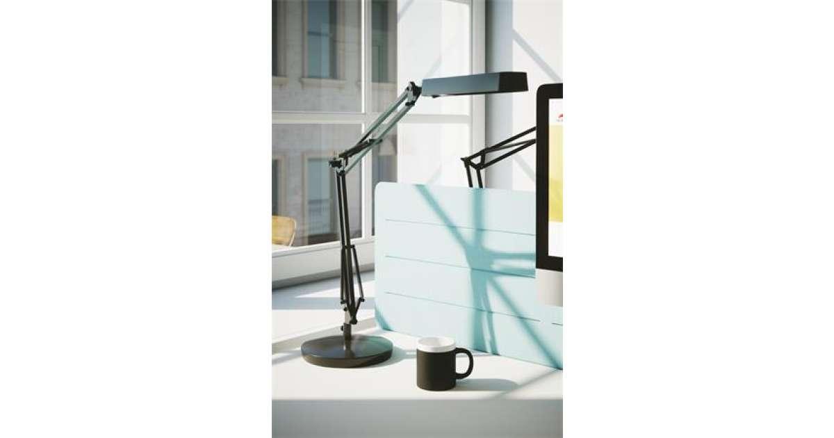Alba Fluoscope Asztali lámpa 11W #fekete | Pepita.hu
