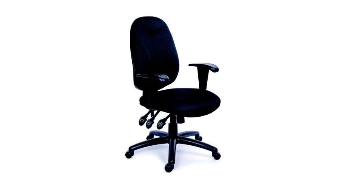 MAYAH Irodai szék, állítható karfás, exkluzív fekete szövetborítás, fekete lábkereszt, MAYAH