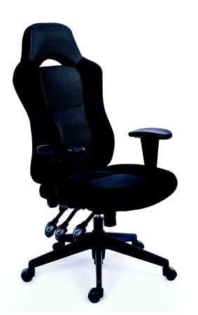 magas támlás irodai szék gyöngyszövettel állítható karfával