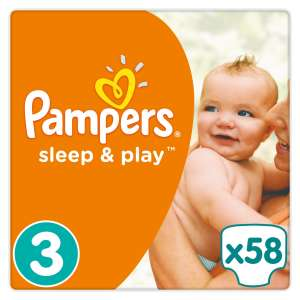 Pampers Sleep&Play Nadrágpelenka 6-10kg Midi 3 (58db)