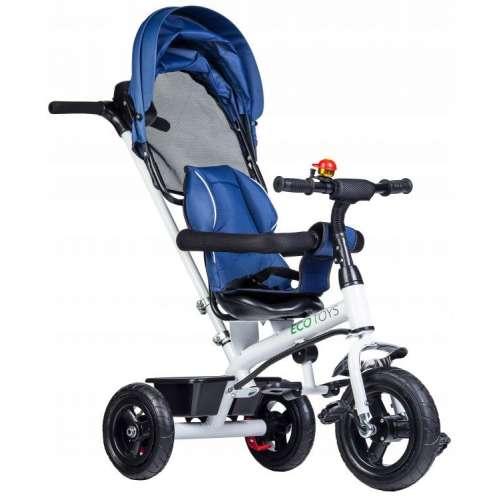Ecotoys acélvázas Tricikli csengővel #kék