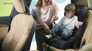 Kinderkraft Comfort Up PRO biztonsági Gyerekülés 9-36kg #szürke-rózsaszín