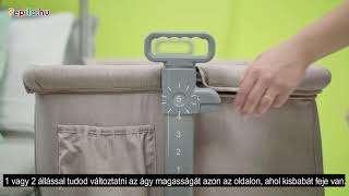 Kinderkraft Neste 2in1 szülői ágyhoz csatlakoztatható Kiságy #bézs