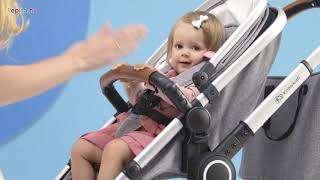 Kinderkraft Veo 3in1 multifunkciós Babakocsi #fekete-szürke