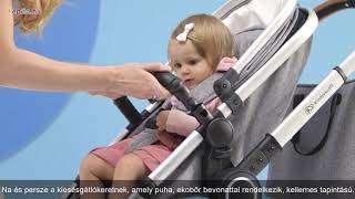 Kinderkraft Veo 2in1 Babakocsi #szürke-fekete