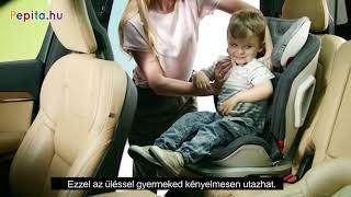 Kinderkraft Oneto3 ISOFIX biztonsági Gyerekülés 9-36kg #szürke-fekete