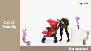 CAM Twin Flip iker Babakocsi #piros 2015