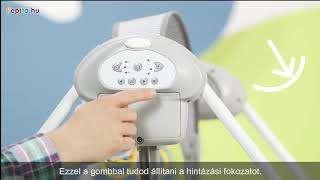Kinderkraft FLO Elektromos hinta #rózsaszín-szürke