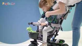 Kinderkraft Aveo 360°-ban megfordítható Tricikli #szürke - Kiállított darab!